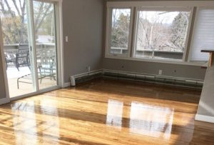 Sanded and Refinished Wood Floor