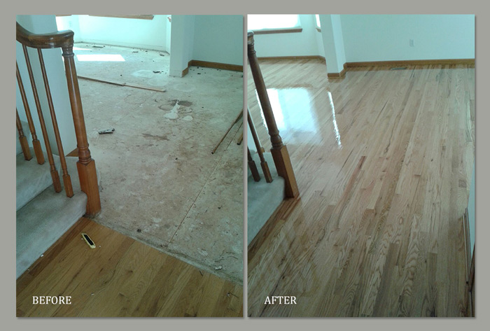 Wood Floor Before and After