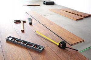 new hardwood floors being installed
