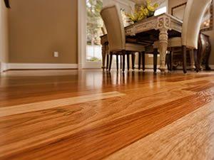 Clean hardwood floor