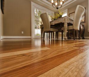 Beautiful clean hardwood floor