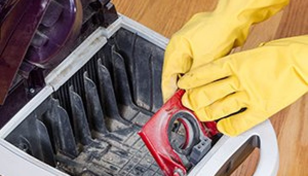 Completing Cleanup of Vacuum Cleaner